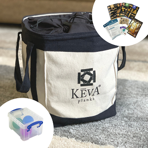 200 KEVA Maple with Canvas Drawstring Tote