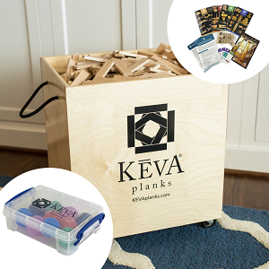 1000 KEVA Maple with Duraflex Wood Storage Bin