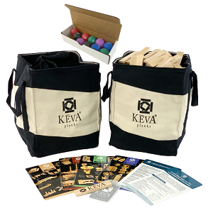800 KEVA Maple with 2 Canvas Drawstring Totes